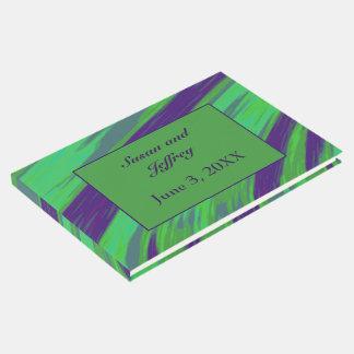 Extracto azulverde del chasquido del color libro de visitas