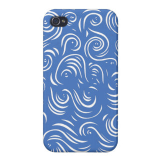 Extracto blanco azul iPhone 4 fundas