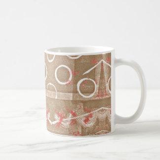 Extracto blanco del moho del moreno taza de café