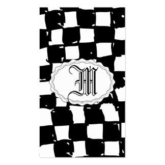 Extracto blanco y negro del inspector tarjetas de visita
