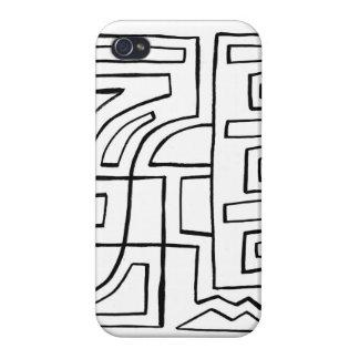 Extracto blanco y negro iPhone 4/4S carcasa