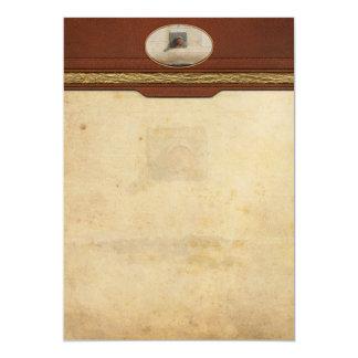 Extracto - cara - apenas goofing apagado invitación 12,7 x 17,8 cm