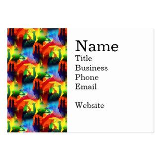 Extracto colorido de la ciudad de la música del ar plantillas de tarjetas de visita