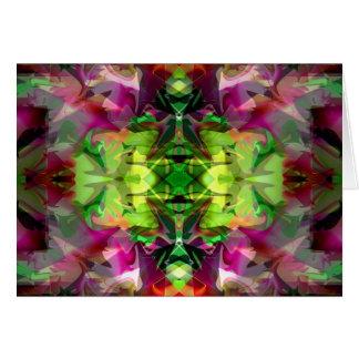 Extracto colorido de la lámpara 5 mágicos tarjeta de felicitación