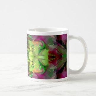 Extracto colorido de la lámpara 5 mágicos taza básica blanca