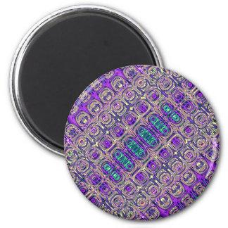 Extracto colorido de las cuentas de cristal imán