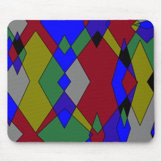 Extracto colorido retro del diamante alfombrilla de ratón