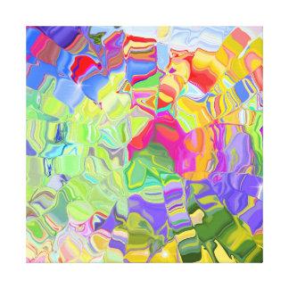 Extracto colorido soñador lona envuelta para galerias