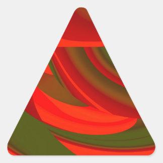Extracto cubista rojo y verde pegatina triangular