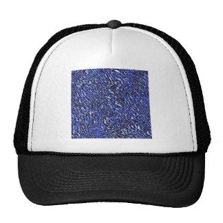 Extracto de cristal azul gorros bordados