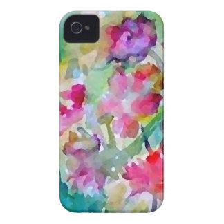 Extracto de la acuarela del jardín de flores de iPhone 4 carcasas