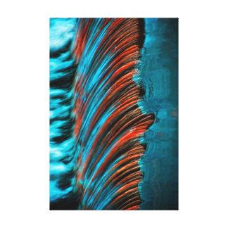 Extracto de la agua corriente impresiones en lona estiradas