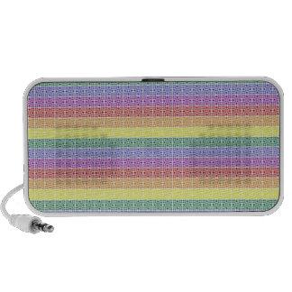 Extracto de la bandera del orgullo gay del arco ir altavoz de viajar
