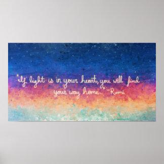 Extracto de la cita de Rumi Póster