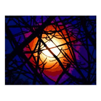 Extracto de la luna del vitral postal