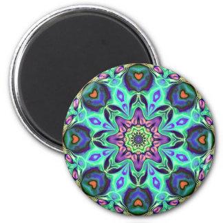 Extracto de la mandala de la turquesa imán