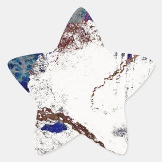 Extracto de las contradicciones pegatina en forma de estrella