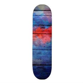 Extracto de madera #13 de la acuarela colorida tablas de skate