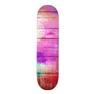 Extracto de madera #14 de la acuarela colorida monopatines personalizados