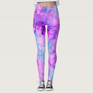 Extracto de mármol de la tinta del alcohol de la leggings