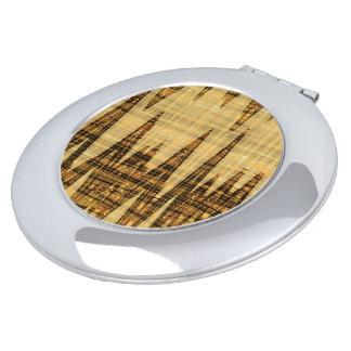 Extracto de oro ondulado espejo compacto