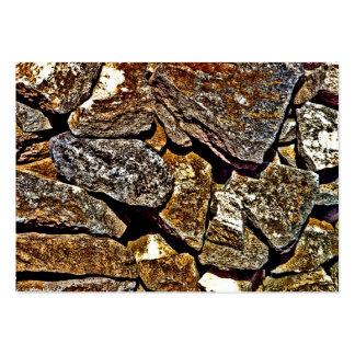 Extracto de piedra tarjetas de visita