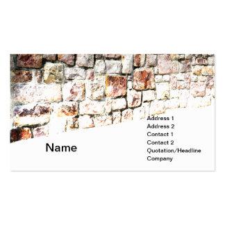 extracto de una pared de piedra y de una tarjetas de visita