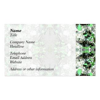 Extracto decorativo en gris y verde tarjetas de visita