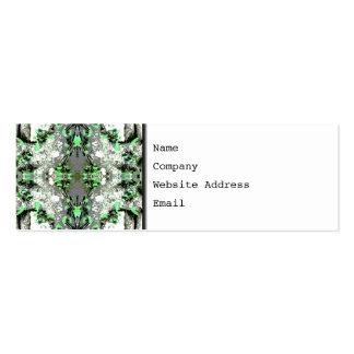 Extracto decorativo en gris y verde tarjetas de visita mini