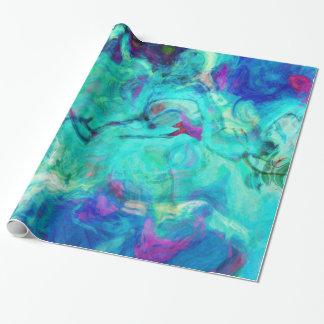 Extracto del agua azul de la aguamarina papel de regalo