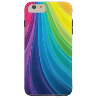 Extracto del arco iris que remolina funda de iPhone 6 plus tough