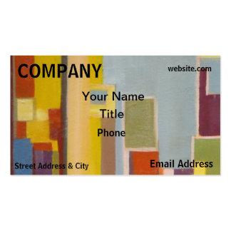 Extracto del edificio de cuadrados del arte de los plantillas de tarjetas de visita