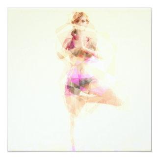 Extracto del ejemplo del concepto de la yoga como invitación 13,3 cm x 13,3cm
