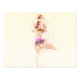 Extracto del ejemplo del concepto de la yoga como postal