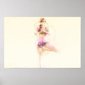 Extracto del ejemplo del concepto de la yoga como póster