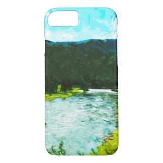 Extracto del lago park nacional de Yellowstone Funda iPhone 7
