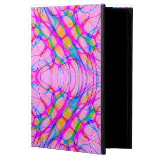 Extracto del modelo del caleidoscopio del rosa en funda para iPad air