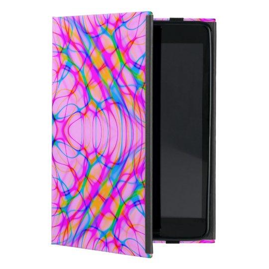 Extracto del modelo del caleidoscopio del rosa en funda para iPad mini