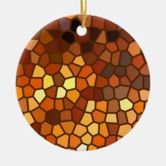 Extracto del mosaico del otoño adorno redondo de cerámica