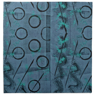 Extracto del negro del verde azul servilleta de tela