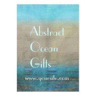 Extracto del océano de la turquesa y del moreno tarjetas de visita grandes