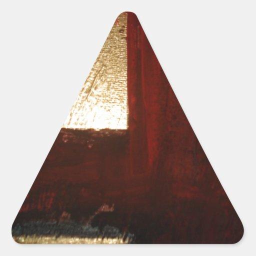 Extracto del oro calcomania triangulo