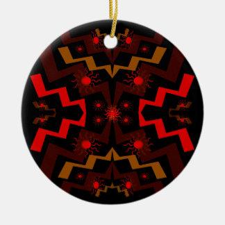 Extracto del relámpago adorno redondo de cerámica