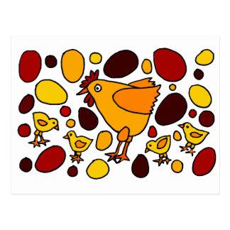 Extracto divertido del arte del gallo y de los postal