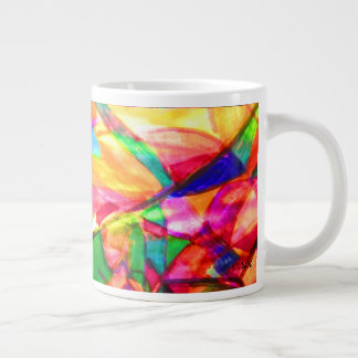 Extracto efervescente taza de café grande