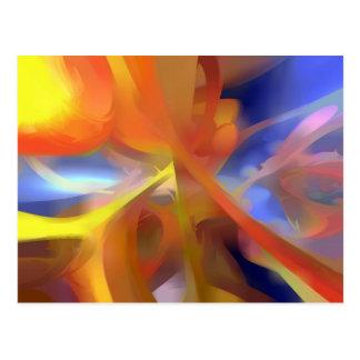 Extracto en colores pastel del amor vibrante tarjeta postal