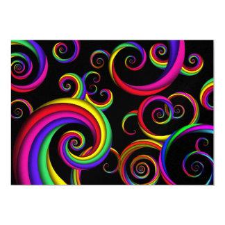 Extracto - espirales - dentro de un payaso invitación 12,7 x 17,8 cm