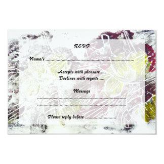 Extracto expresivo. Hojas de otoño Invitación 8,9 X 12,7 Cm