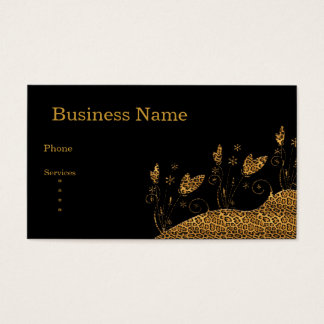 Extracto floral del estampado de animales del tarjeta de negocios