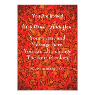 Extracto fluorescente del guepardo del rojo invitación 8,9 x 12,7 cm